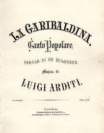 La Garibaldina - Canto Popolare - Parole di un Milanese - For Voice and Piano