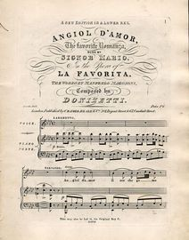 Angiol D'Amor - The favourite Romanza sung by Signor Mario in the Opera of
