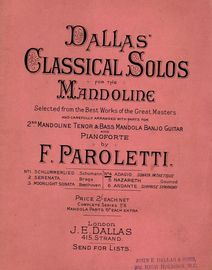 Adagio (sonata pathetique) - No. 4 from Dallas' Classical Solos for the Mandoline - Selected from the Best Works of the Great Masters and carefulyl ar