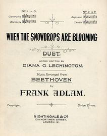 When the Snowdrops are Blooming - Duet for No. 2 in F for Sopano and Tenor