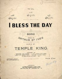 I Bless The Day - song in the key of D major for High Voice