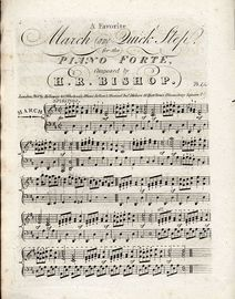 A Favourite March and Quick Step for the Pianoforte