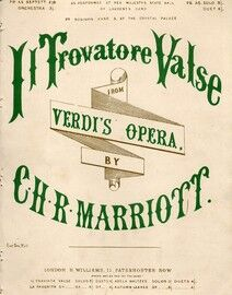 Il Trovatore Valse -  for Piano from Verdis opera