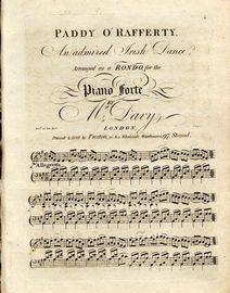 Paddy O'Rafferty - An admired Irish Dance - Arranged as a Rondo for the Piano Forte