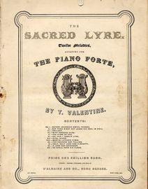 Before Jehovah's awful throne -No. 1 from  The Sacred Lyre series of 12 melodies arranged for The Piano Forte