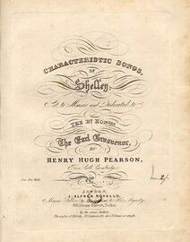 Characteristic Songs of Shelley - Set to Music and Dedicated to The Right Honerable Earl Brosdenor