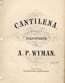 Cantilena - Arranged for the Pianoforte