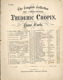 Chopin - Valse for Piano - Op. 64, No. 1 - Dedicated to Madame la Comtesse Delphine Potacka - Vessel & Co.'s Edition of Frederic Chopin's Works No. 69