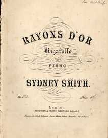 Rayon\'s D\'or - Bagatelle pour Piano - Op. 176