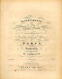 Divertimento for the Piano on favourite airs from Herold's Celebrated Opera of Zampa