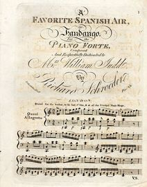 A Favorite Spanish Air or Fandango for the Pianoforte - Respectfully dedicated to Mrs William Judd
