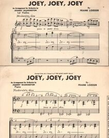 DANCE BAND with Vocals:-  JOEY, JOEY, JOEY - (moderately slow)     From