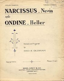 Narcissus and Onedine - Continental Fingering - For Piano Solo