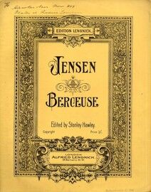 Jensen - Berceuse for Piano Solo - Edition Lengnick