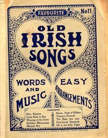 Favourite Old Irish Songs - No. 11 - Words and Music in easy arrangements