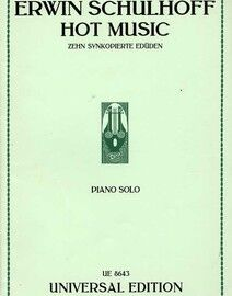 Erwin Schulhoff - Hot Music - Ten Syncopated Studies for Piano Solo - Universal Edition No. 8643