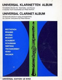 Universal Clarinet Album - 10 Favourite Pieces in Easy Arrangements for Clarinet and Piano - Universal Edition UE 18102