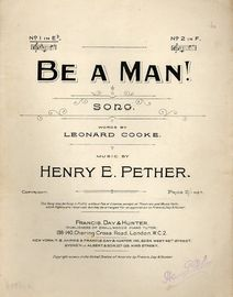Be a Man (No. 1 in E flat)