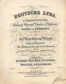 The Serenade - Deutsche Lyra No. 65 - A Collection of the Clafsical Operatic Popular and National Songs of Germany - As sung at the Private Musical So