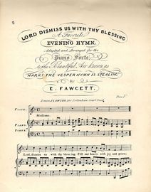 Lord Dismiss Us with thy Blessing - A Favourite Hymn adapted and arranged for the Piano Forte - To the Beautiful Air known as