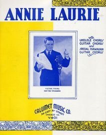 Annie Laurie - Hawaiian Guitar Solo with Ukulele and Guitar chord symbols and words