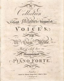 A Collection of Selected melodies harmonized for Voices - Unknown Series No. 6