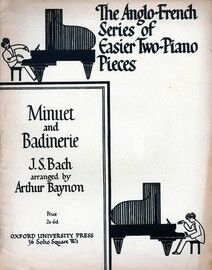 Bach - Minuet and Badinerie - The Anglo French Series of Easier Two Piano Pieces