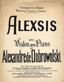 Alexsis - For Violon avec Piano