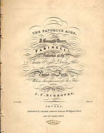 The Favorite Airs in J. Barnett's Opera Farinelli - Performed at the Theatre Royal Drury Lane - Arranged for the Pianoforte with an accompaniment for