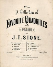 Killarney - No. 7 of a Collection of Favourite Quadrilles for Piano