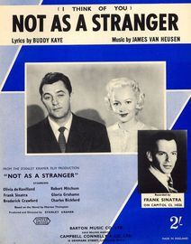 (I think of you) Not as a Stranger - From the Stanley Kramer film production