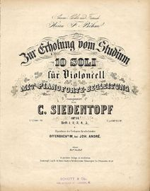 Bur Erhohing vom Studium - 10 Soli fur Violoncell mit Pianoforte begleitung - Op. 14 - Heft 5 - No's IX and X - For Piano and Violin