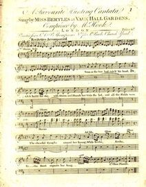 A Favourite Hunting Cantata - Sung by Miss Bertles at Vauxhall Gardens - With Piano and Horn and Oboe accompaniments