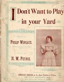 I Don't Want to Play in Your Yard - Song featuring Miss Julie Mackey - Key of F major