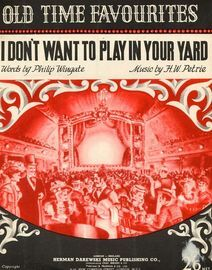 I Don't Want to Play in Your Yard - Song in the key of F major