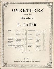 Overture Le Chaval de Bronze - Overtures for Pianoforte Series - For Pianoforte Duet