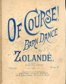 Of Course! - Barn Dance for Piano Solo