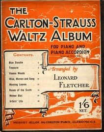 The Carlton Strauss Waltz Album For Piano Solo and Piano Accordion