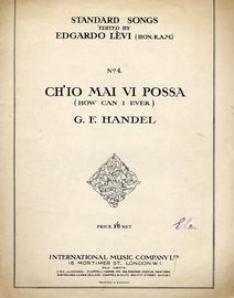 Handel - Ch'io Mai Vi Possa (How Can I Ever) - Song in the key of C Minor, with English and Italian words