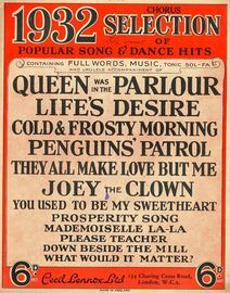 1932 Chorus Selection of Popular song and Dance Hits - Full Words, Music, Tonic Sol-fa and Ukulele accompaniment