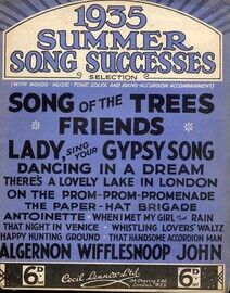 1935 Summer Song Successes Selection - With Words, Music, Tonic Solfa and Piano Accordion accompaniment