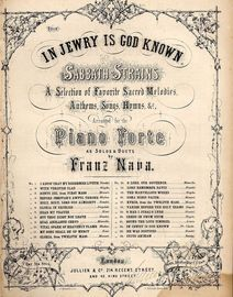 In Jewry Is God Known - No. 22 From 'Sabbath Strains, a selection of favourite sacred melodies, anthems, songs and hymns - Arranged for the Piano Fort