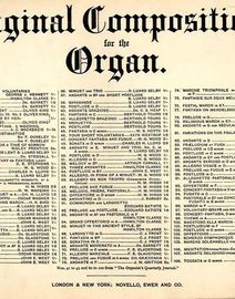 Offertoire - No. 103 from Original Compositions for the Organ series - First performed by the composer at the Crystal Palace Saturday Concerts