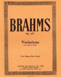 Brahms - Variations on a Theme by Haydn - Duet on Two Pianos - Op. 56B