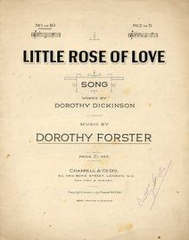 Little Rose of Love - Song in the Key of B flat Major for Low Voice