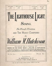 The Lighthouse Light - Song - For Mez-Sop. or Bar. in E