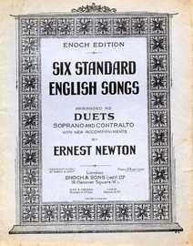 Six Standard English songs arranged as duets for Soprano or Contralto