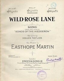 Wild Rose Lane - Song in the key of F major for medium voice from