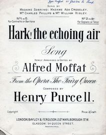 Hark! The Echoing Air - Song in the key of B flat major for Soprano or Tenor