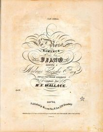 Le Reve - Romance pour le Piano - Op. 21 - Deicated to madame Coralie Frey of New Orleans